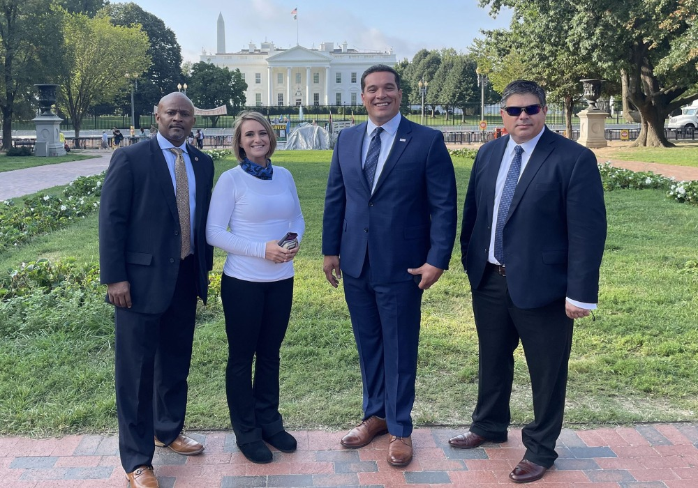 EAS Carpenters Michael Conner Attends White House Labor Day Event with Other Military Veterans